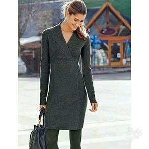 Athleta chalet ribbed grey sweater dress